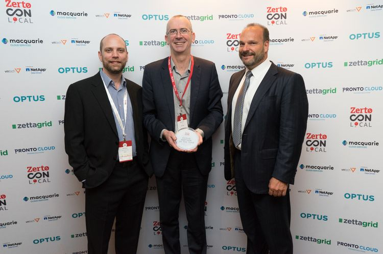 Zettagrid 2017 Cloud provider of the Year APAC by Zerto